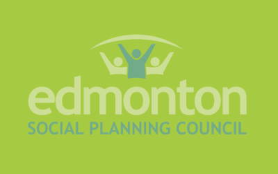 Edmonton Social Planning Council logo on green background