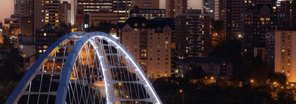 Walterdale Bridge at night